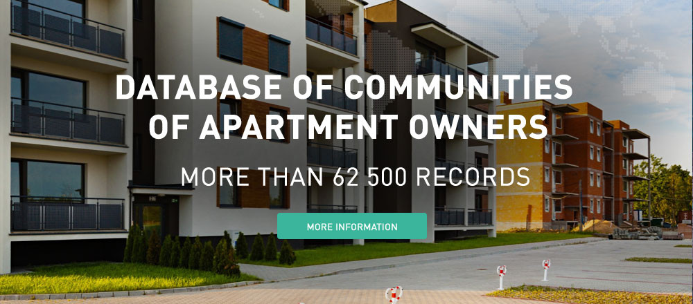 Database of communities of apartment owners