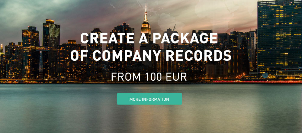 Create a package of company records